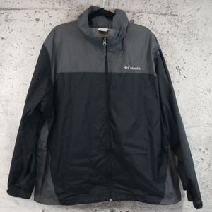 COLUMBIA Rain Shell Jacket Black XXL